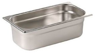 Stainless Gastronorm Pan - 100mm deep 1/4 Size