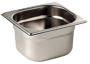 Stainless Gastronorm Pan - 100mm deep 1/6th Size