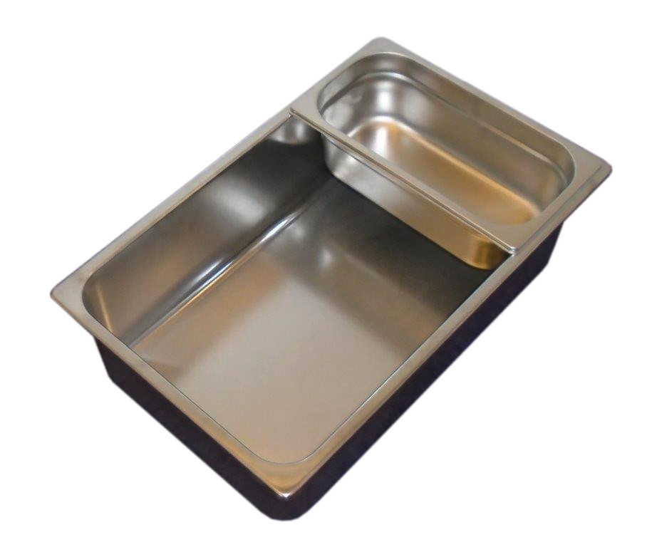 Gastronorm 1/1 140mm Deep Bain Marie/Wet well. Stainless Steel