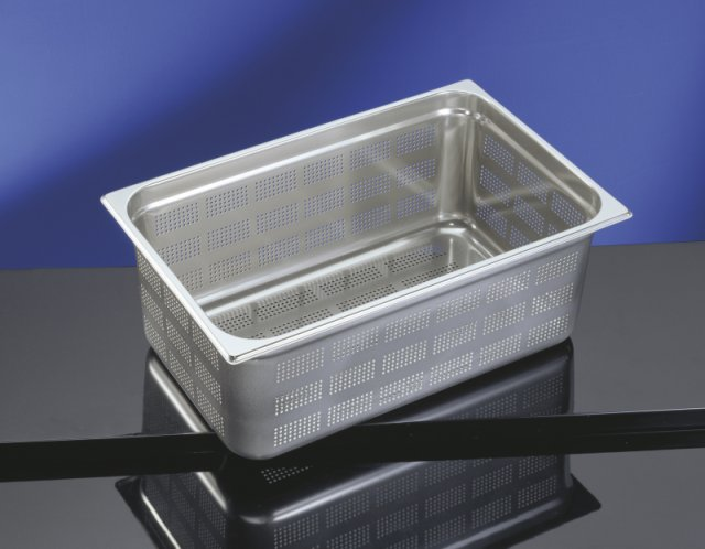 Perforated Base & Sides Gastronorm Pan - 1/2 Size 100mm deep