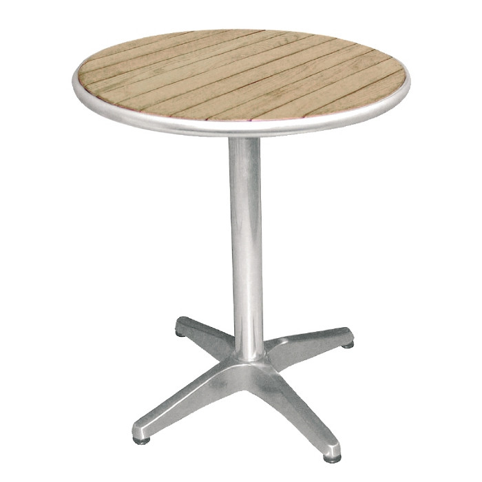 Ash top table round 80cm tables ru429 outdoor - Table ronde aluminium ...