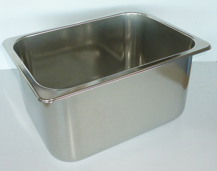 Oblong Sink 330 x 230 x 180mm Deep, Left hand waste, Insert Flan