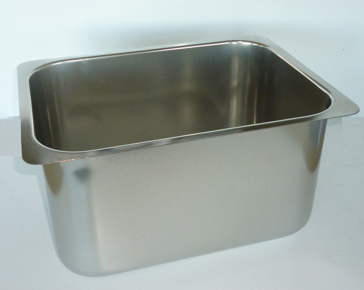 Oblong Sink 330 x 230 x 180mm Deep, Right hand waste, Flat Flang