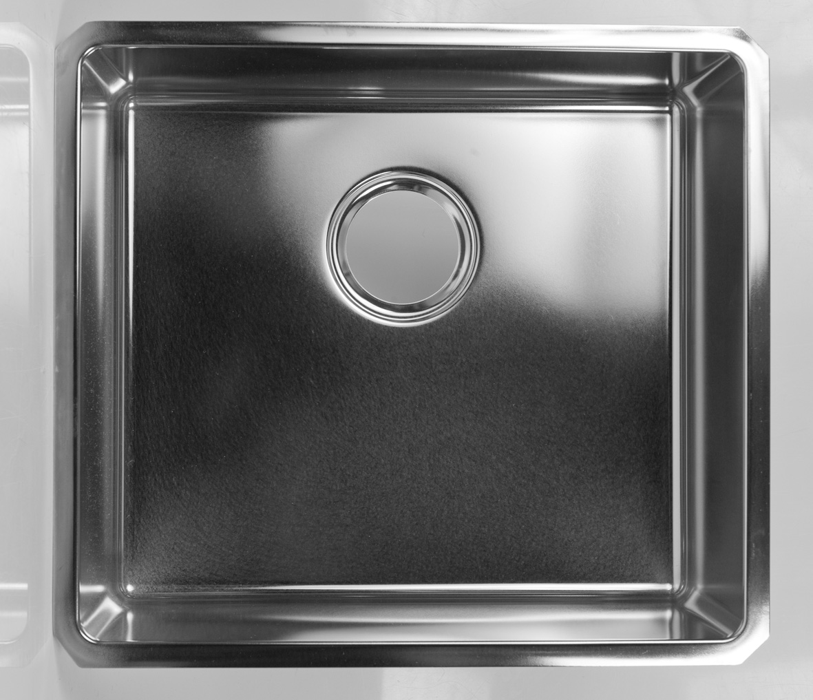 Tight corner radius sink 304 stainless steel 450 x 400 x 180