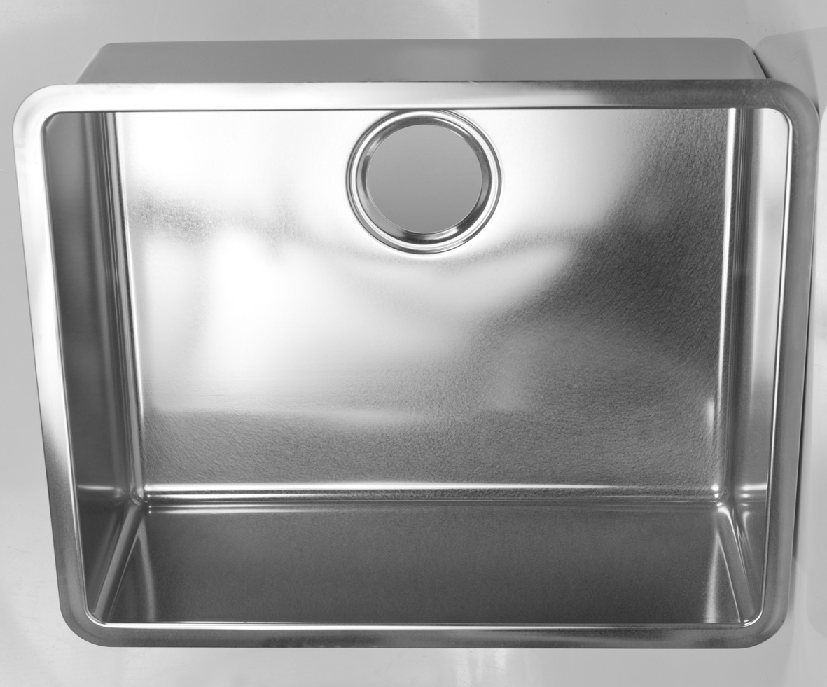 Tight corner radius sink 304 stainless steel 500 x 400 x 180