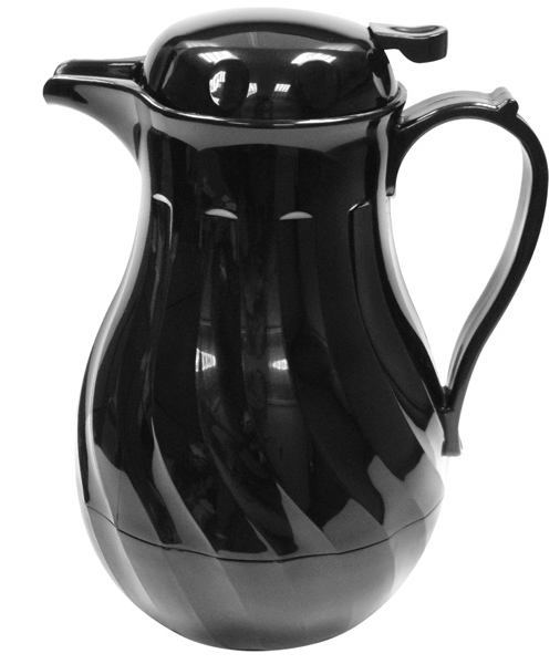 Swirl design insulated Beverage Server 1.9 Ltr / 64oz Black food