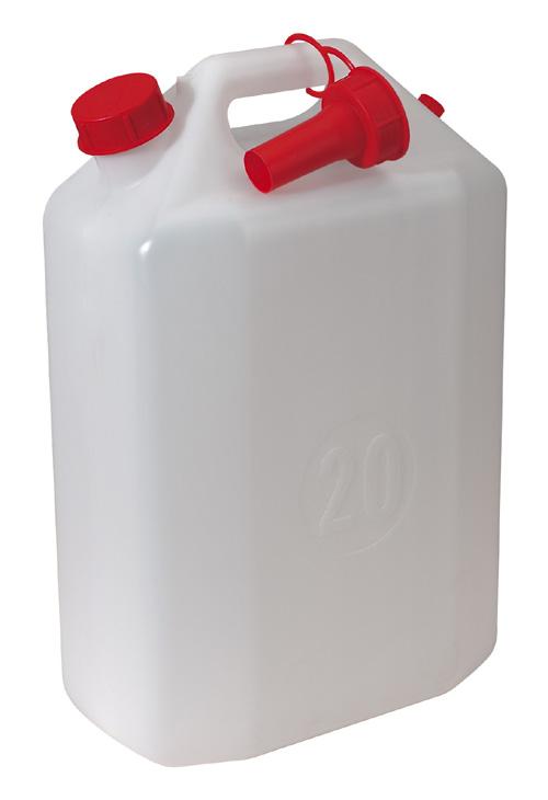Plastic Jerry Can Style, Water Container 20ltr with Spout  porta
