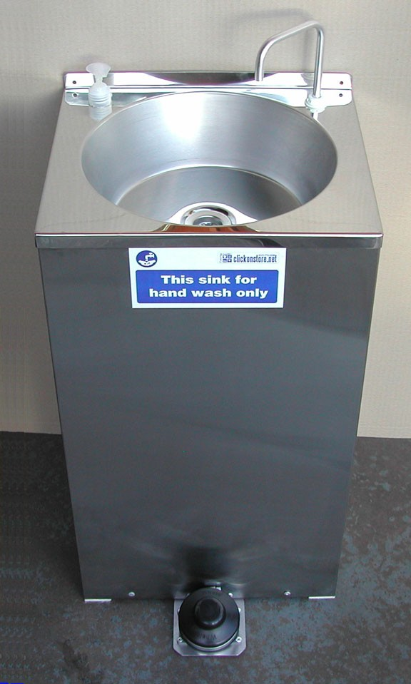 Portable Hot Hand Wash Sink St Steel  design 20lts.COVID