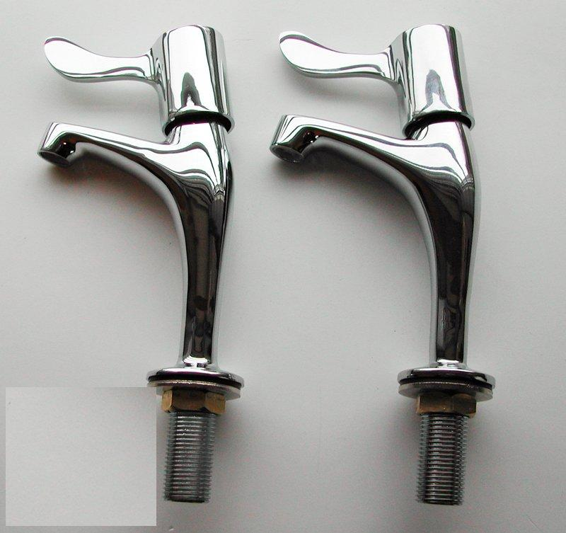 Taps pair sink lever taps high neck