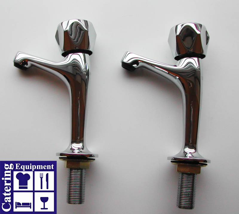 Twin raised contemporary taps