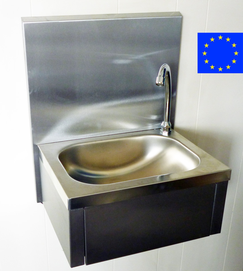 Hand Sink - Knee Operated Handwash Sink with splashback