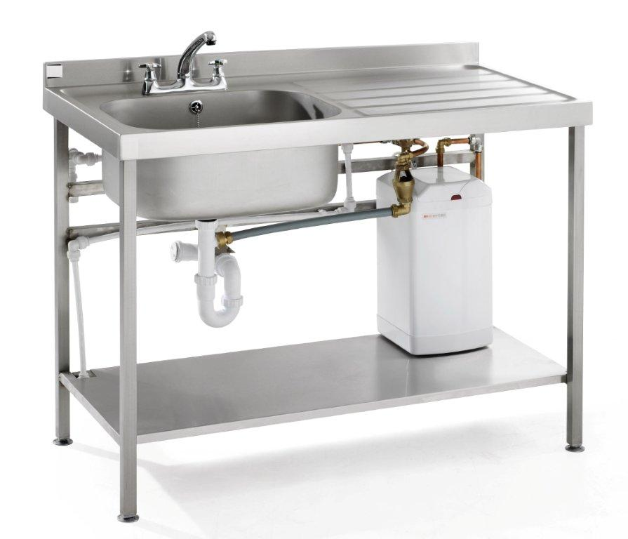 Portable Heated Self Contained Washing Up Sink & Drainer Unit.