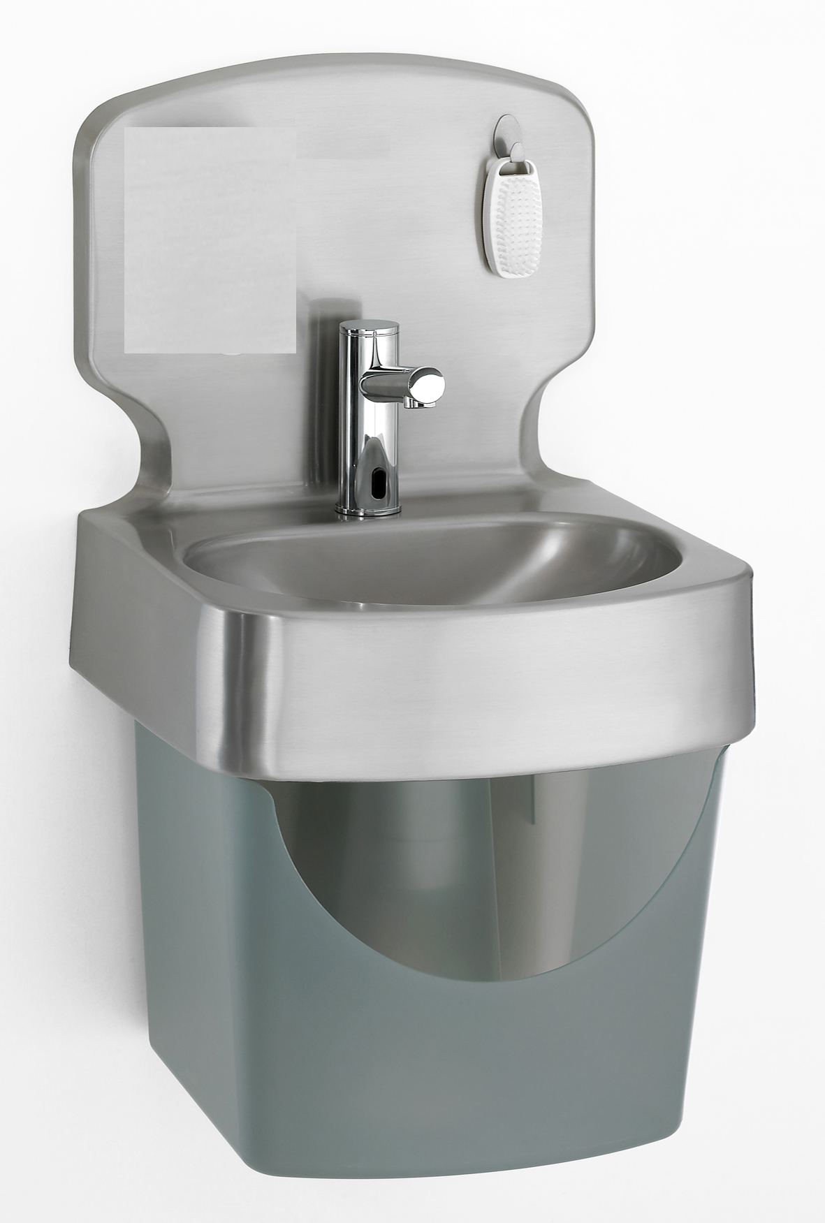 Wash Basin - Wall Hung Stainless Steel Electronic valve sink and