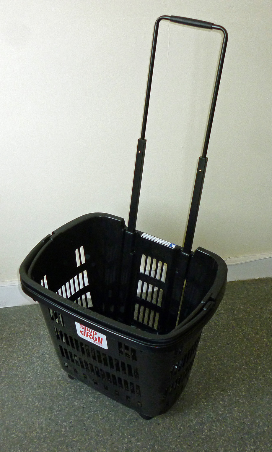 Rolling Shopping Basket Black, Shop and Roll