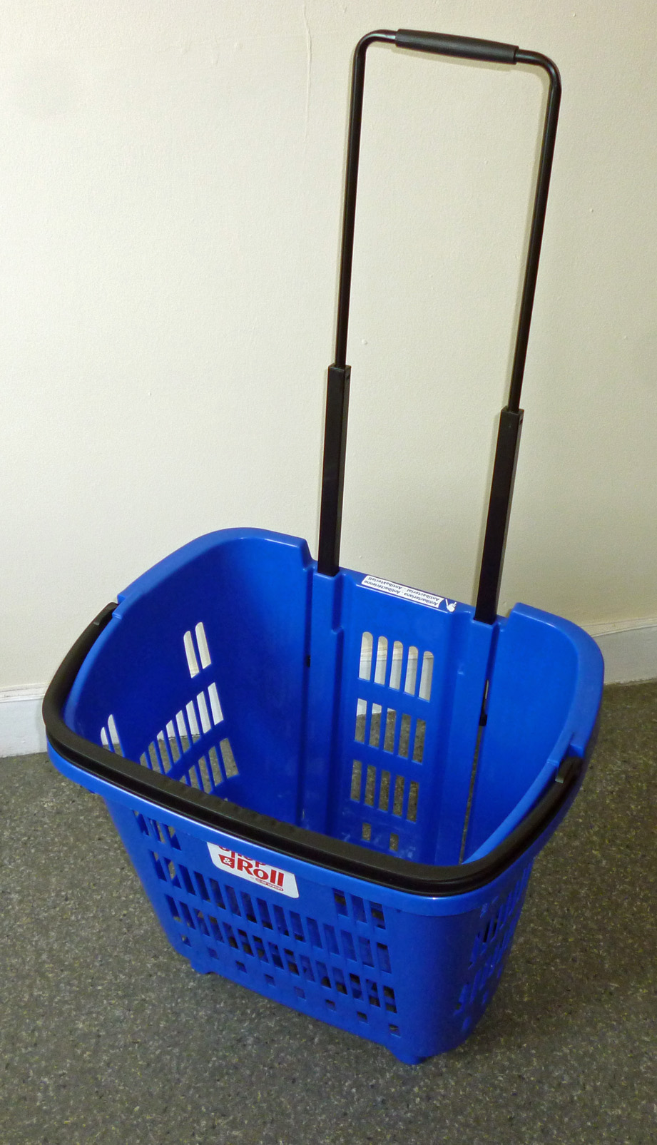 Rolling Shopping Basket Blue, Shop and Roll