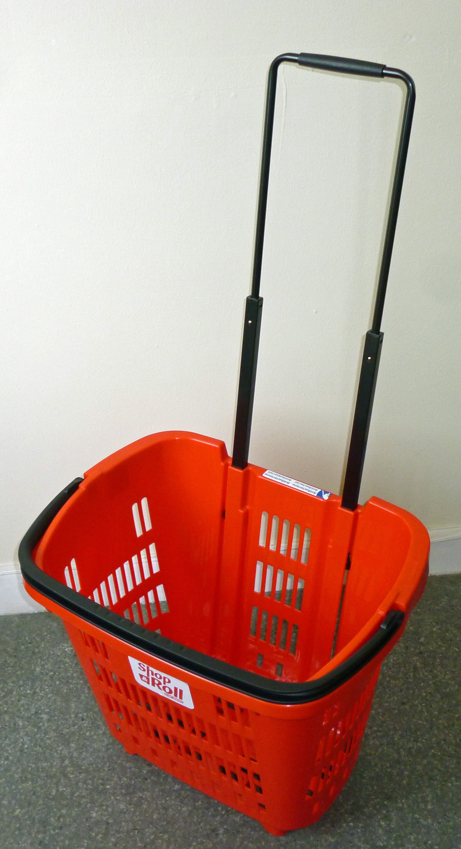 Rolling Shopping Basket  Red, Shop and Roll