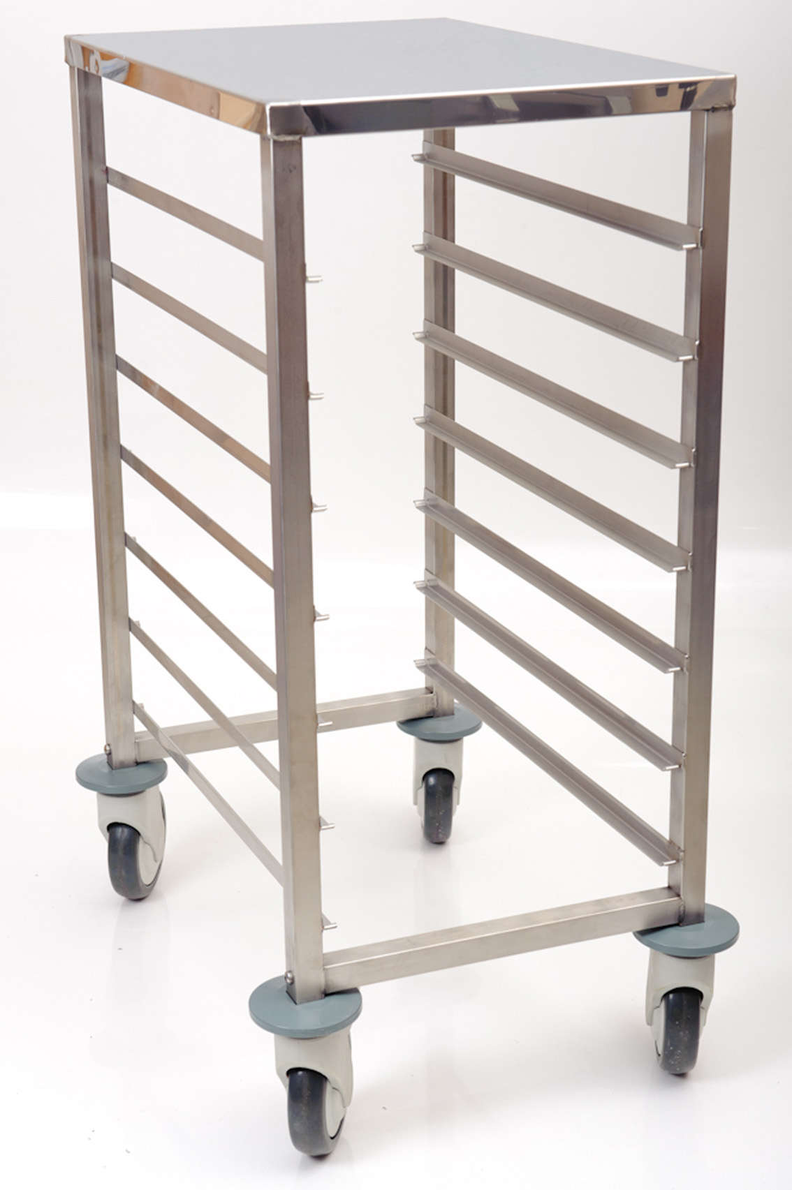 Gastronorm Trolley 1/1 Stainless Steel Work Top 8 x Shelves