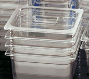 Clear Container with Lid - 100mm deep 1/6th size