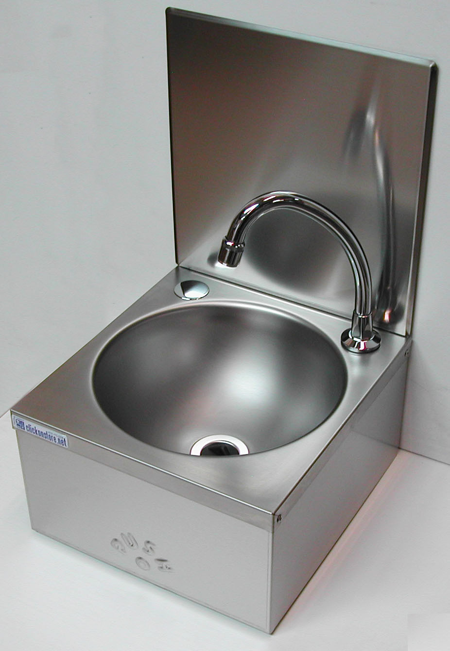 Knee Operated Sink Handwash with splash-back. Complete Kit.