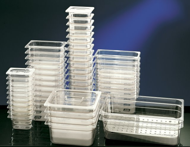 Clear Polycarbonate Gastronorm Container - 65mm deep 1/2 size