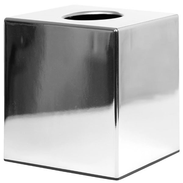 Cube tissue  holder chrome