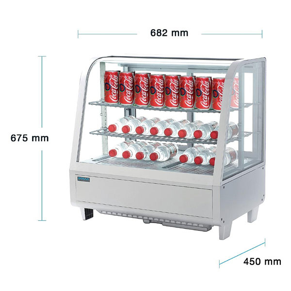 Polar Counter-top Refrigerated Merchandiser in White 100 Litre.