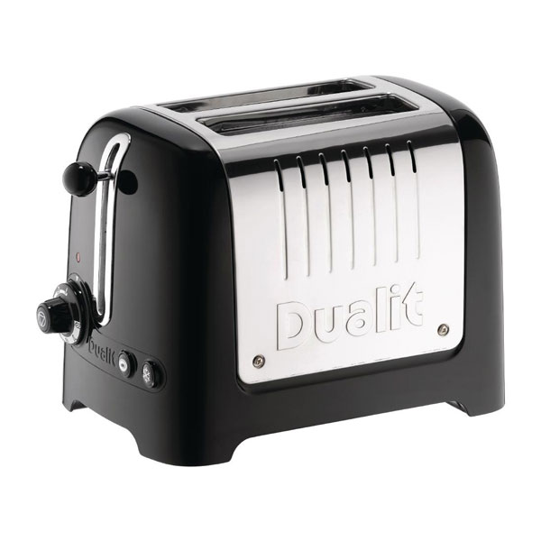Dualit 2 Slot Lite Toaster ( Black & Stainless Steel )