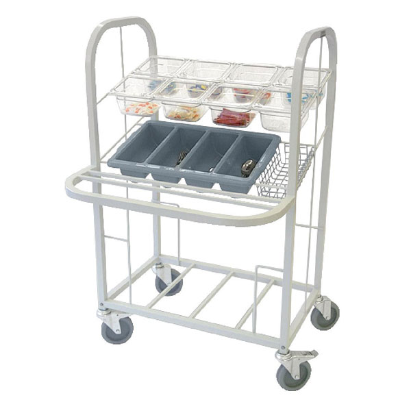 Tray Condiment, Cutlery & Dispenser Trolley