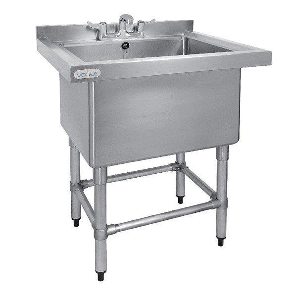 Pot Sink Deep Stainless steel 770mm x 600mm  x 900mm high,  big