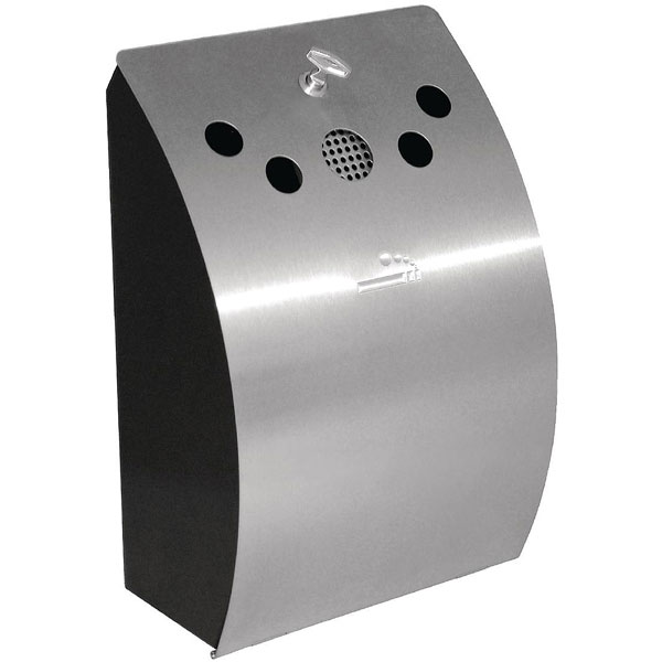 Stylish Stainless Steel Wall Mounted Ashtray.
