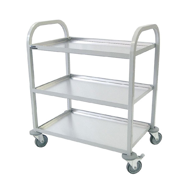 Powder-Coated Mild Steel Trolley - 3 Tier