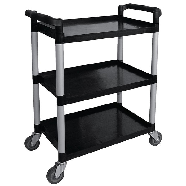 Three tier clearing trolley - polypropylene 813x410x910