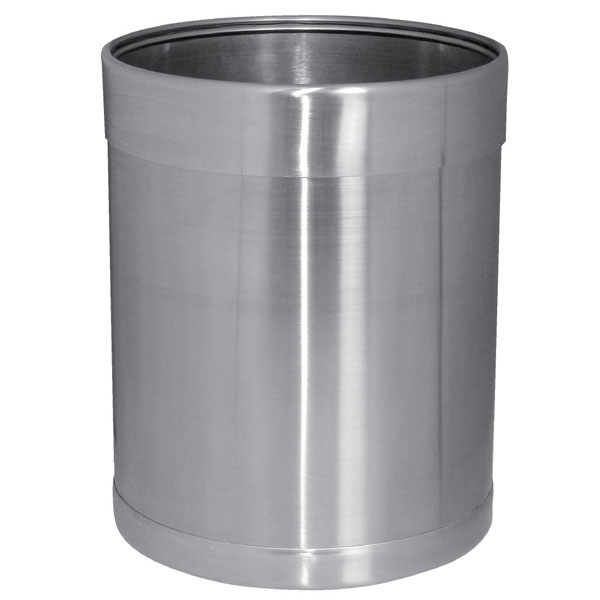 Waste Paper Bin in Brushed Stainless Steel