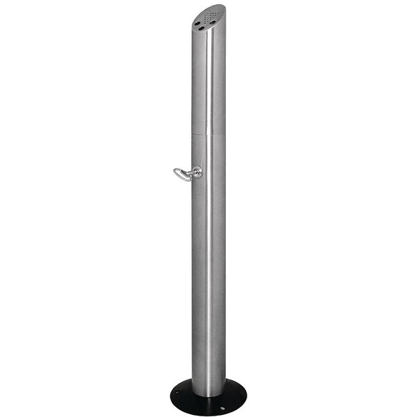 Ash tray floor standing smokers` pole St. Steel