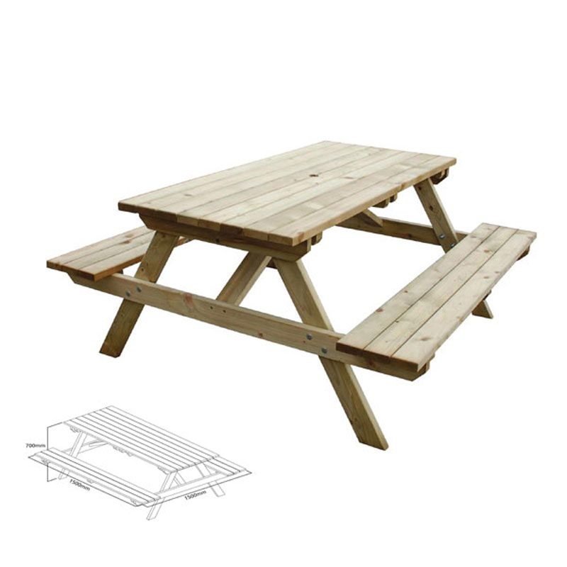 6 Seater Bench Table
