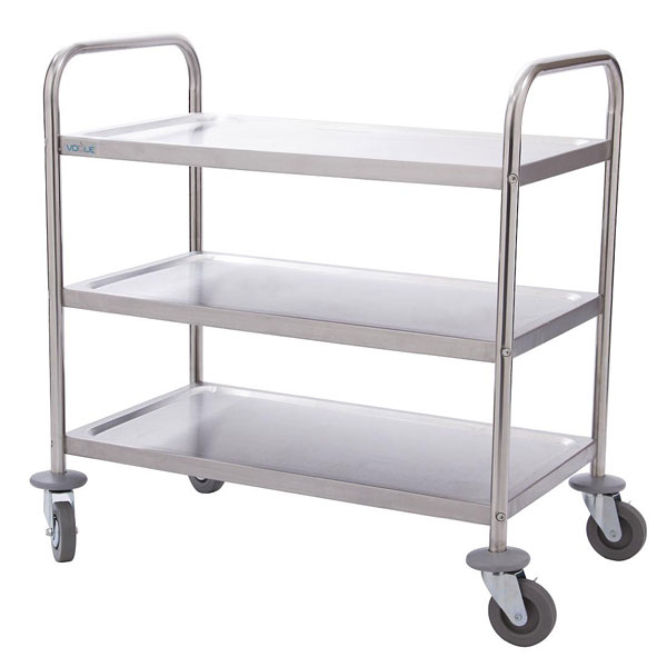 Three tier Catering Trolley 710x405x810mm