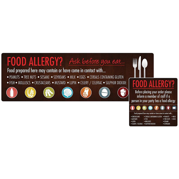 Food Allergy Self-Adhesive Labels