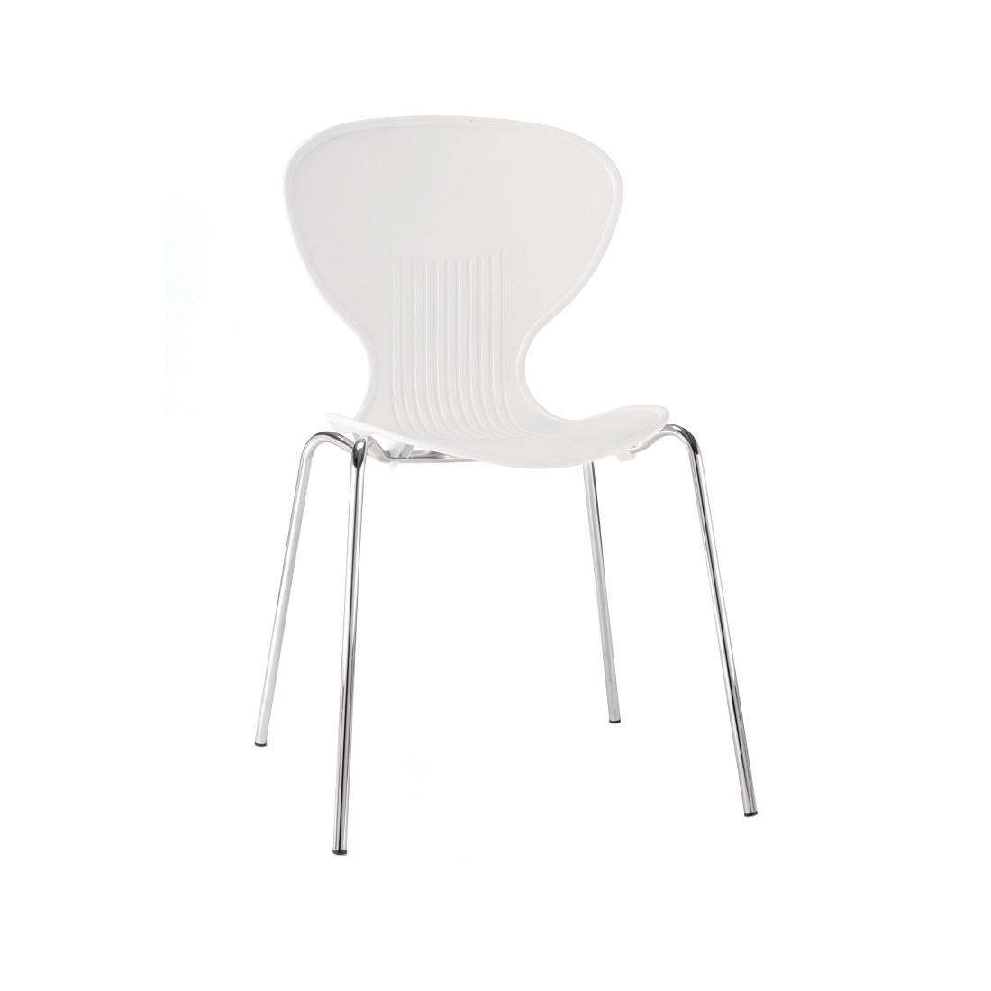 Colour Range Polypropylene Chairs - White