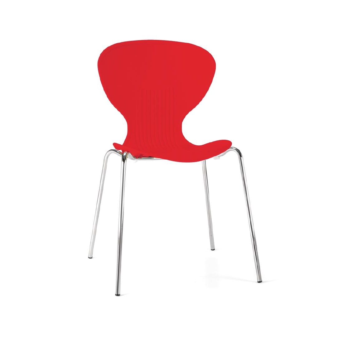 Colour Range Polypropylene Chairs - Red