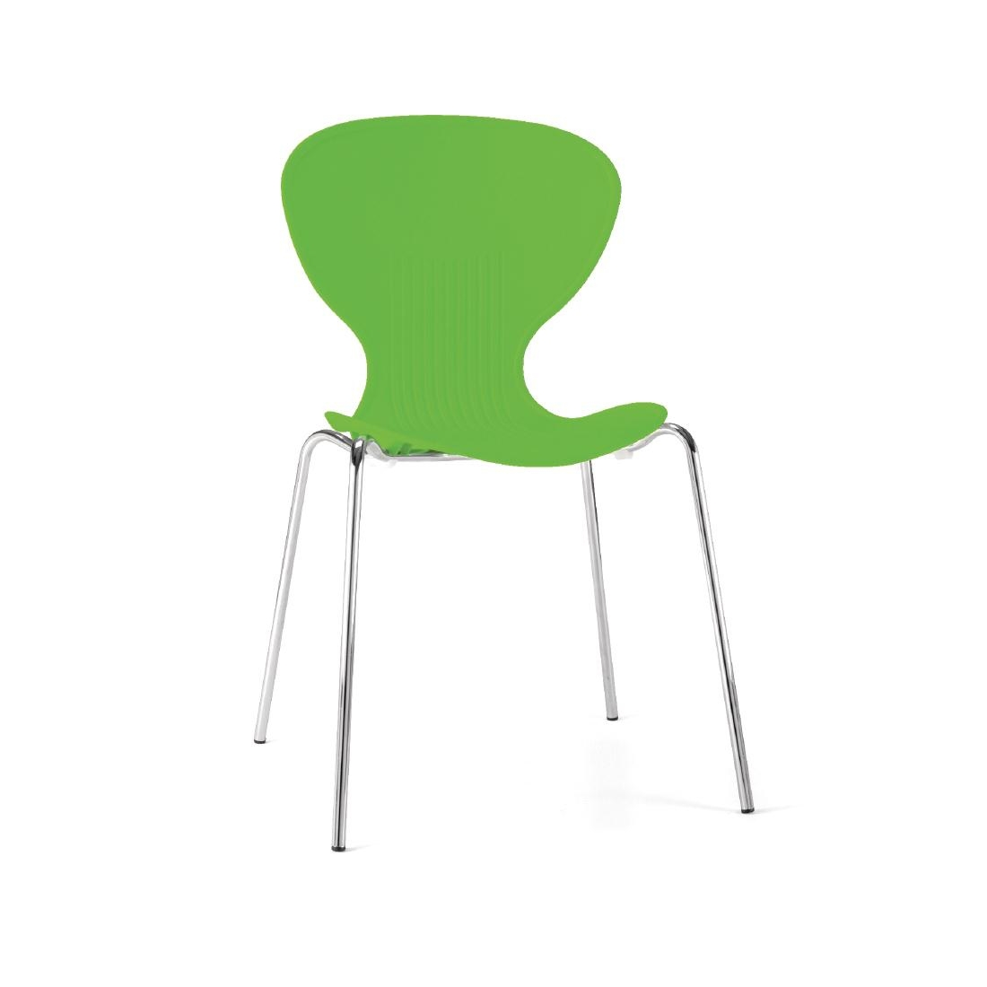 Colour Range Polypropylene Chairs - Bright Green