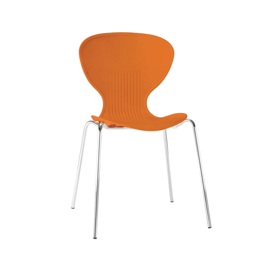 Colour Range Polypropylene Chairs - Orange