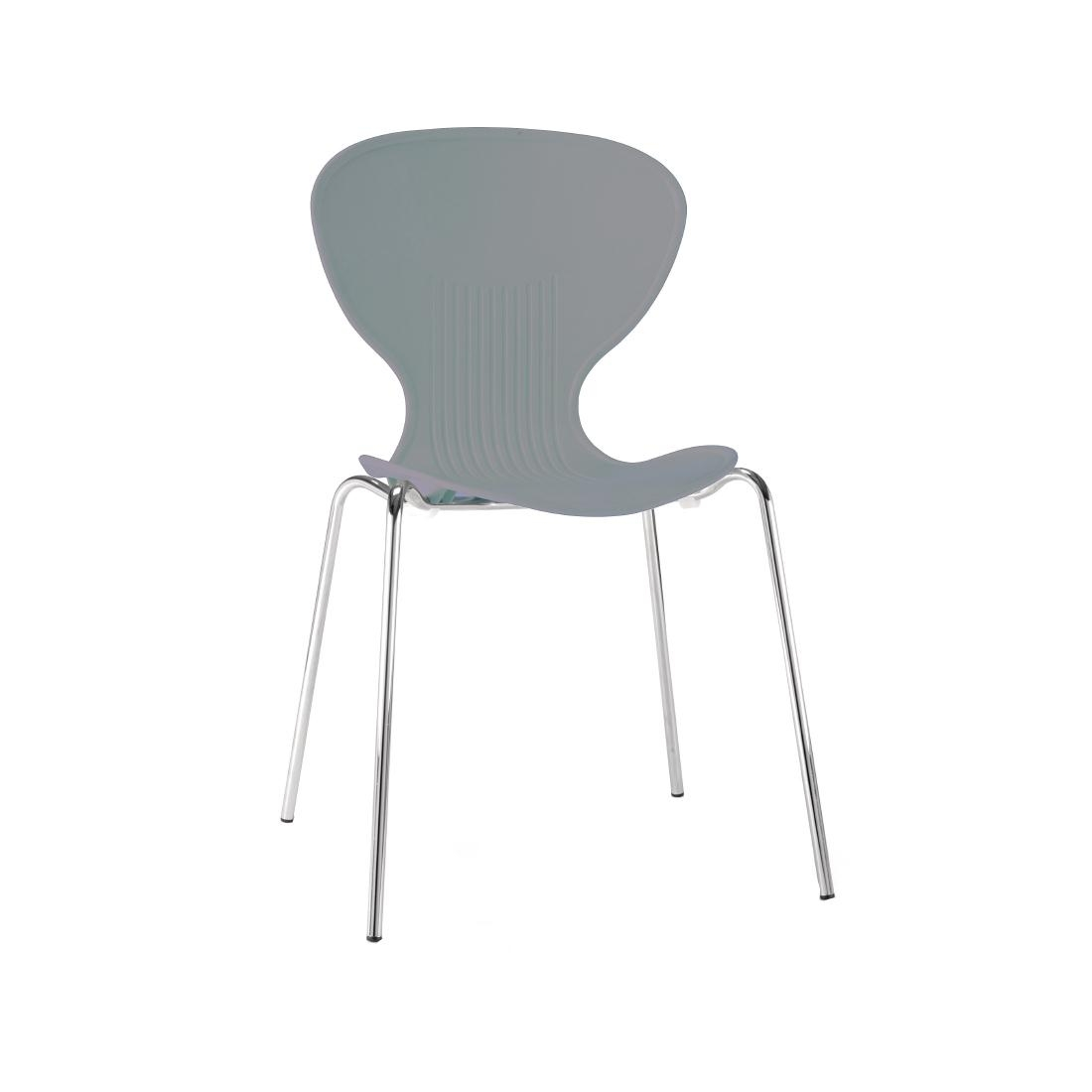 Colour Range Polypropylene Chairs - Grey