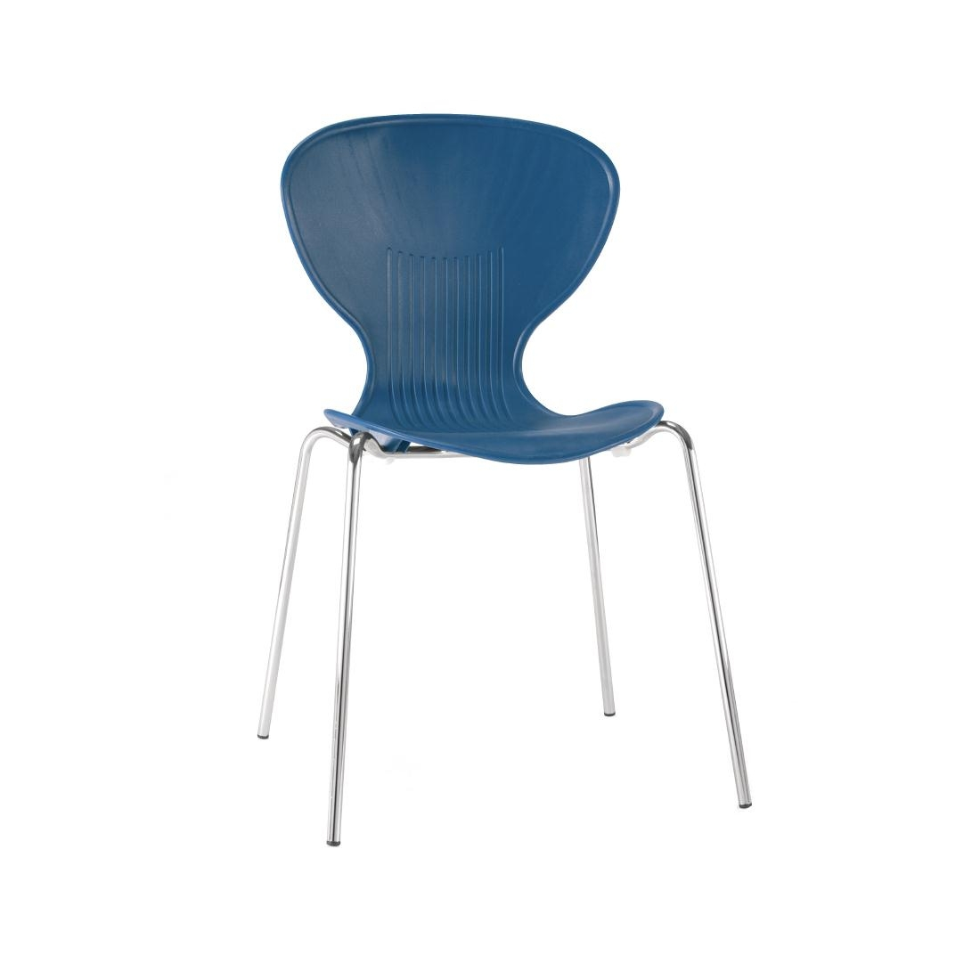 Colour Range Polypropylene Chairs - Blue