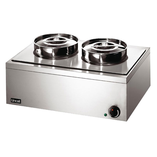 Lincat Lynx 400 Bains Marie with Two Stainless Steel Round Pot