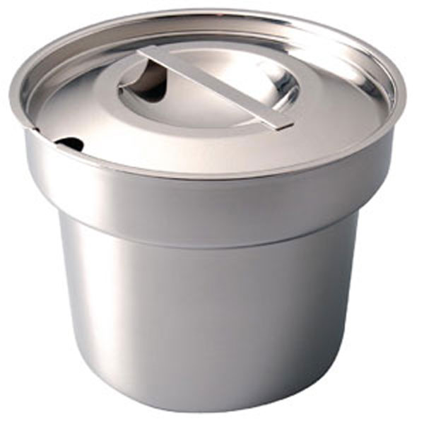 Round Pot and Notched Cover - Stainless 4Litres