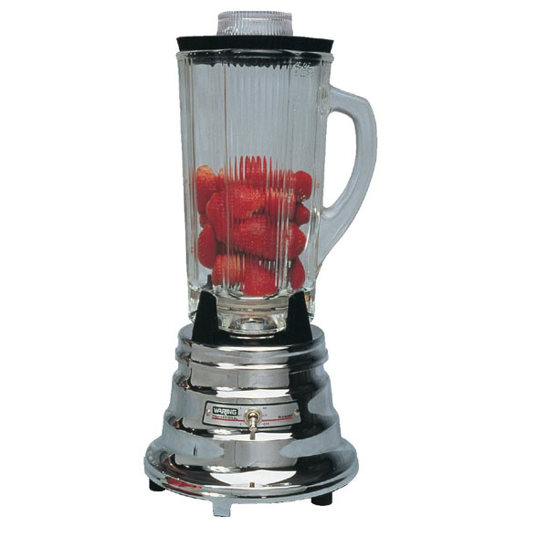 Retro Cool Chrome & Glass Jug Kitchen Blender - 1.2 Litre Capaci