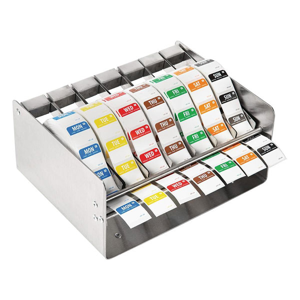 Food Label Dispenser & Set Of Labels