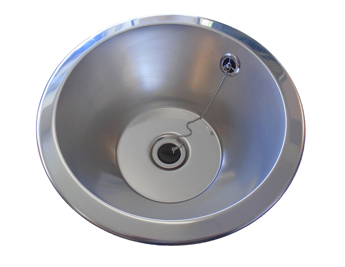305mm Round Sink. Conical Shape Wash Basin. Stainless