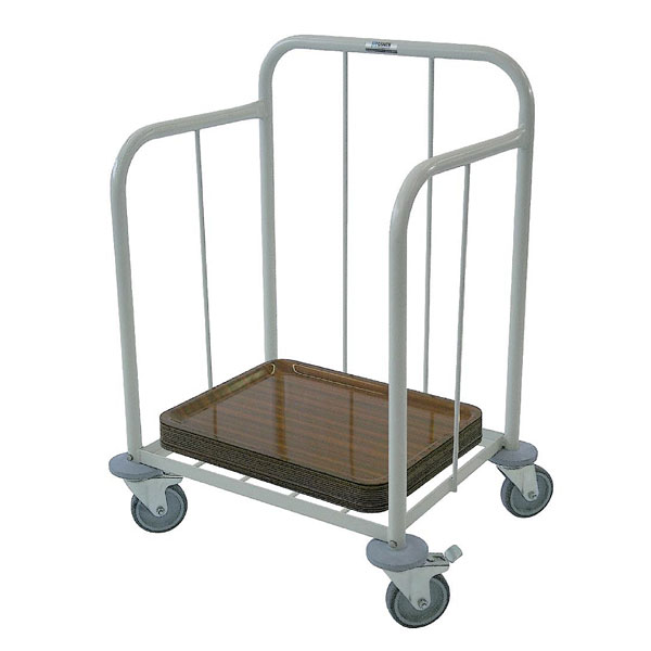 Tray Stacking Trolley - Powder-Coated Mild Steel