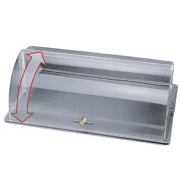 Clear Plastic Roll Top GN 1/1 Cover with Gold Handle